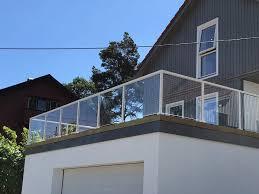 Rekkverk glass terrasse 2