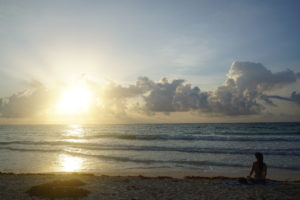 Sunrise in Tulum Mexico Yoga meditation retreat leigha butler