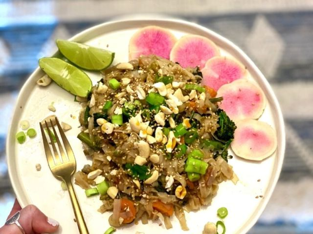 Cashew Pad Thai (Vegan, Gluten-Free)