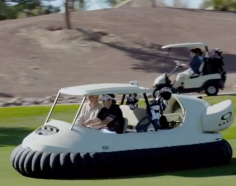 Bubba Watsons hovercraft, video of the week