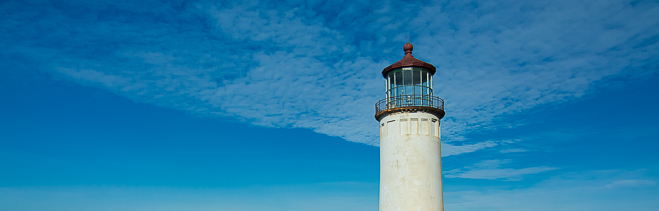 Pacific Northwest Lighthouse at Cape Disappointment