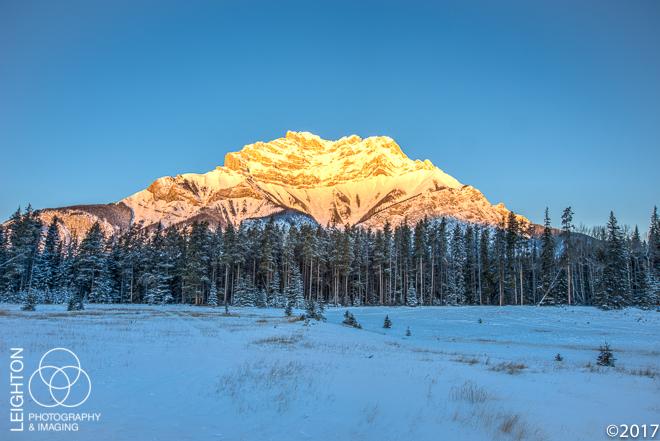 At First Light - Banff's Cascade Mountain