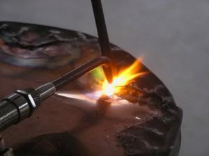 Brazing a light fixture