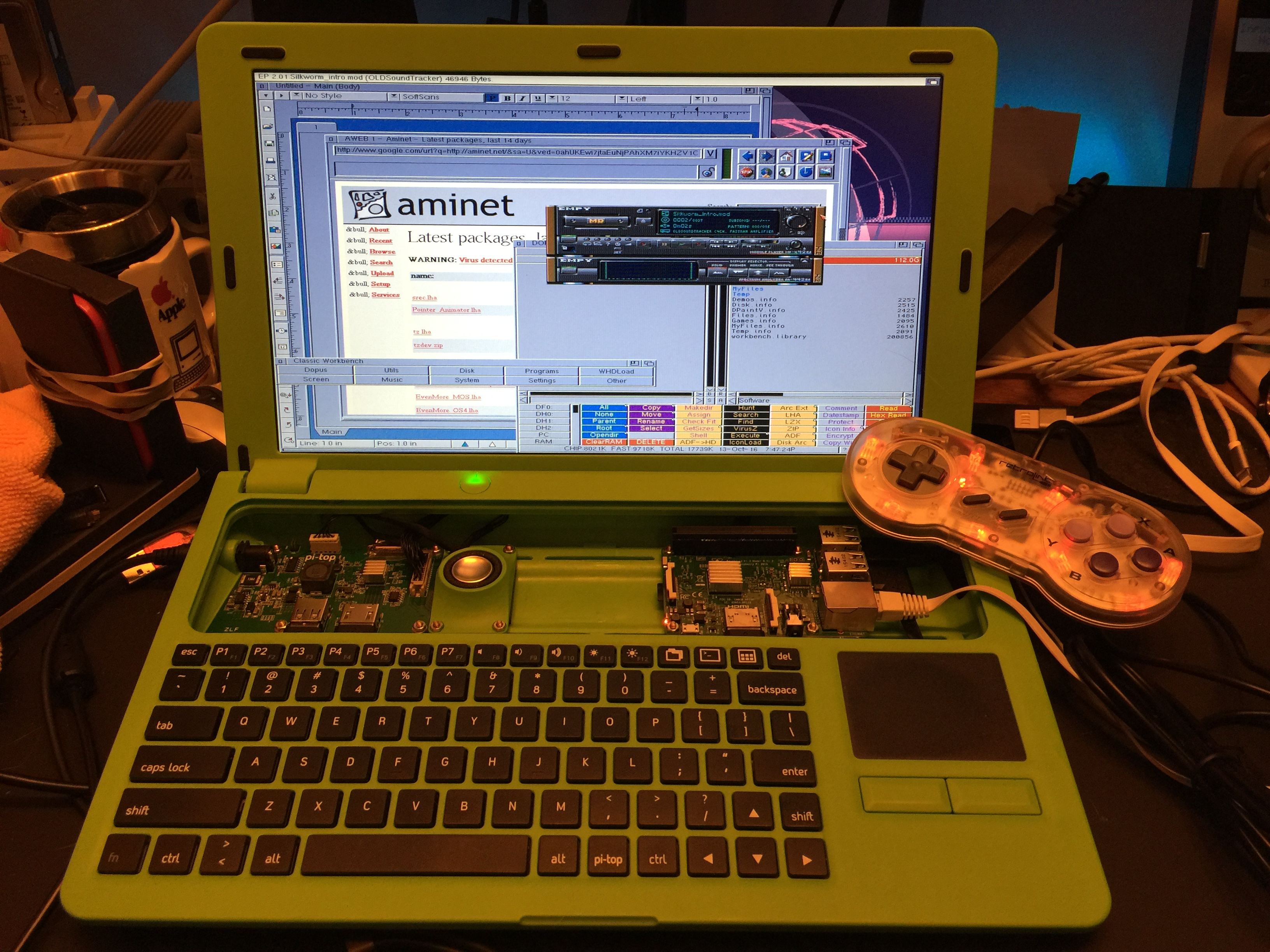 Leinninger com » How To Build An Amiga Laptop Using