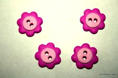 Bottoni a fiore rosa e fucsia