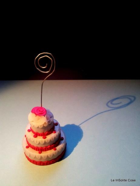 Torta nuziale portafoto