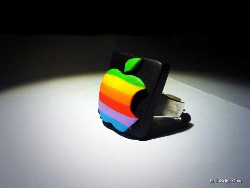 Vintage Apple Logo Fimo Ring - 2013 - www.leinsolitecose.com  (1)