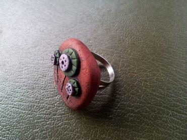 Anello in Fimo - Faux Ceramic - 2014 le insolite cose . com (2)