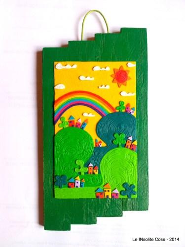 Disegni in rilievo – Paesaggio su Verde – 2014