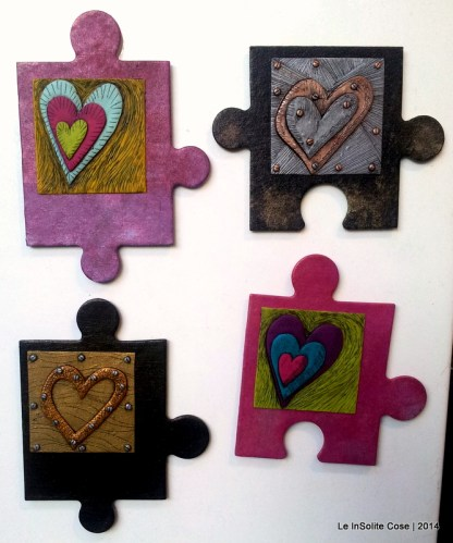 "Calamite Puzzle e Cuori ""You are the missing piece"""