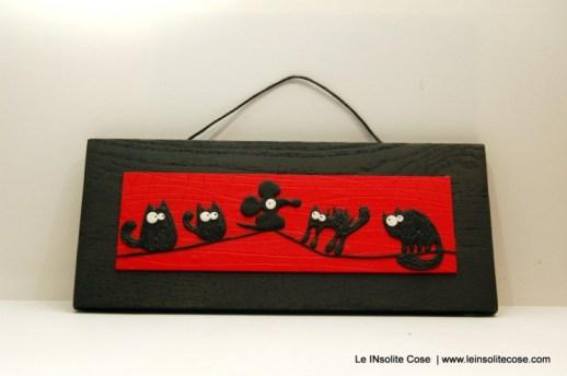 Tavolette gatti neri stilizzati - orizzontale rossa - Giugno 2015 - Le INsolite Cose (5)