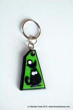 Portachiavi con gatti neri stilizzati - Le INsolite Cose - www.leinsolitecose.com - 2015 (10)