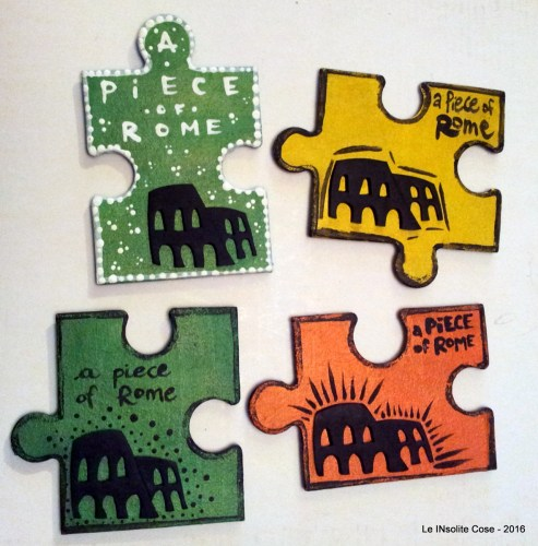 "Calamite Puzzle Souvenir ""A piece of Rome"" – Handmade in Rome by Romans :)"