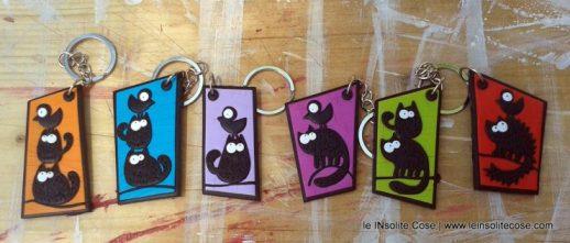 Portachiavi Gatto nero stilizzato - le INsolite Cose 2016 (2)