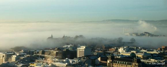 Akerhus castle above the fog