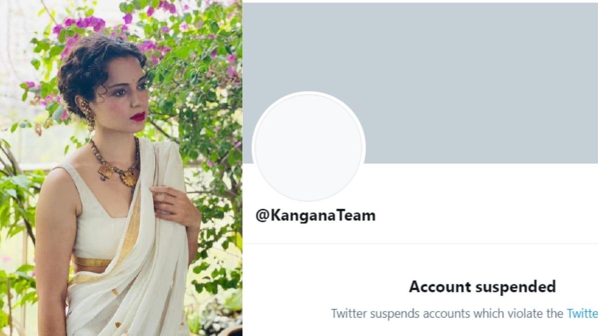Kangana Ranaut's Twitter suspended