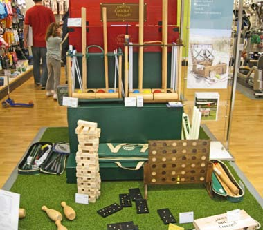 Selection of garden games