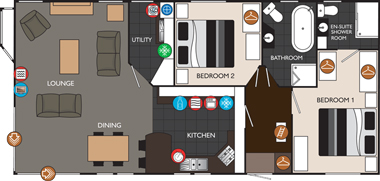 Willerby Ridgewood Floorplan