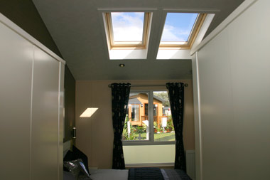 Willerby Ridgewood skylights in master bedroom