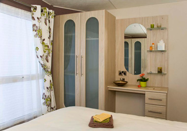 Delta Glade Static Caravan Master Bedroom Storage