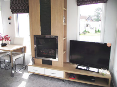 Willerby Linear - Lounge TV Unit and Fire