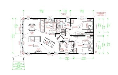 Omar Westfield 40 x 20 two-bed holiday lodge review - floor plan