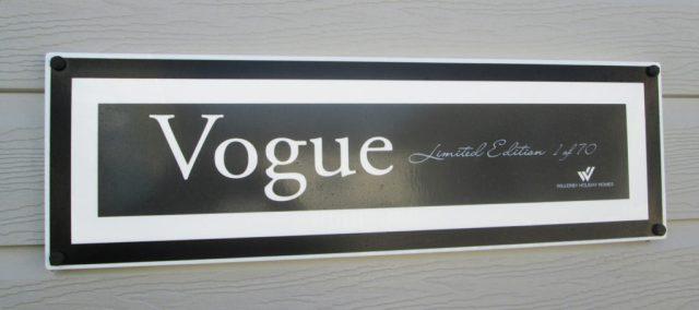 Willerby Vogue sign