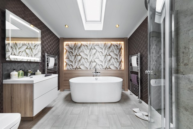 Swift Whistler Lodge Master Bathroom Wide