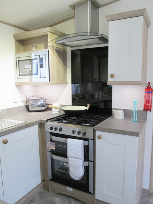 ABI St David static caravan Stove and Extractor