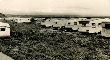1950s holiday caravan site