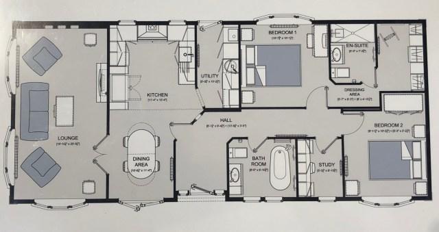 2019 Omar Heritage Park Home floorplan