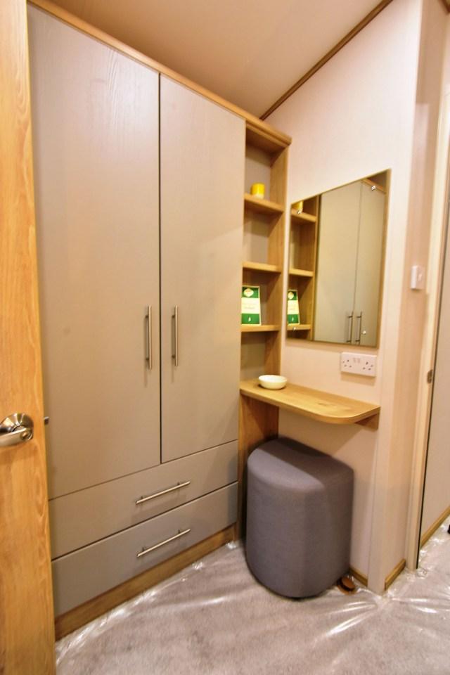 2019 ABI Beverley static caravan master bedroom