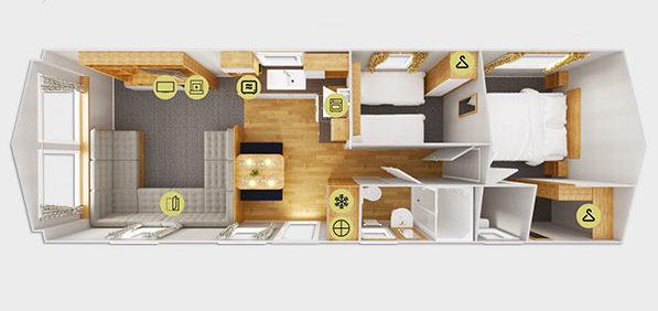 2020 Willerby Kelston static caravan floorplan