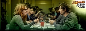 Image of players participating in a Preliminary Pro Tour Qualifier (pptq) for Magic The Gathering