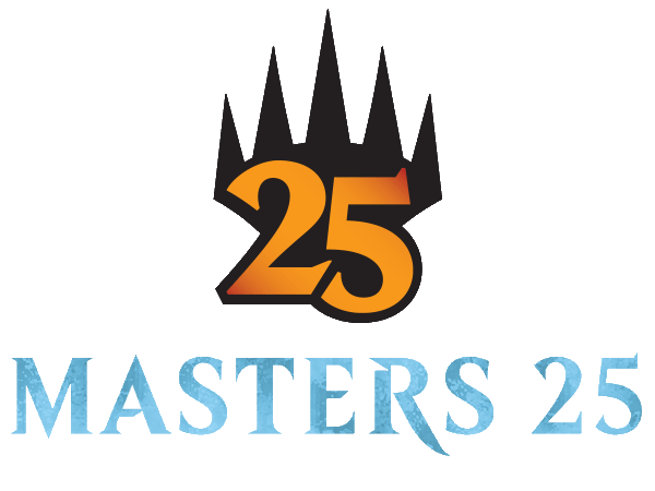 Masters 25 logo and mythic rare set symbol