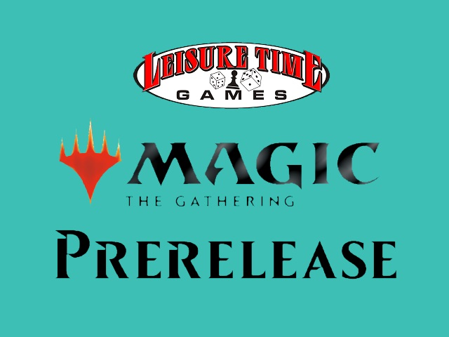 ltg logo, mtg logo and WotC font combined to make a Magic The Gathering Prerelease Prize Support image