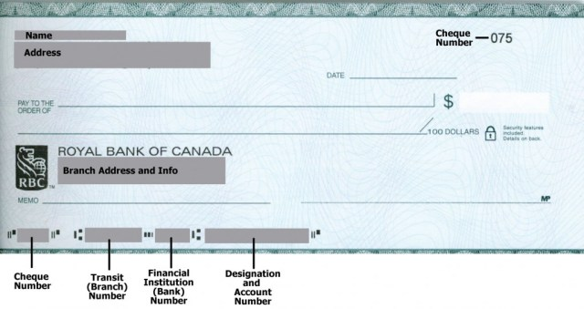 RBC Sample Cheque