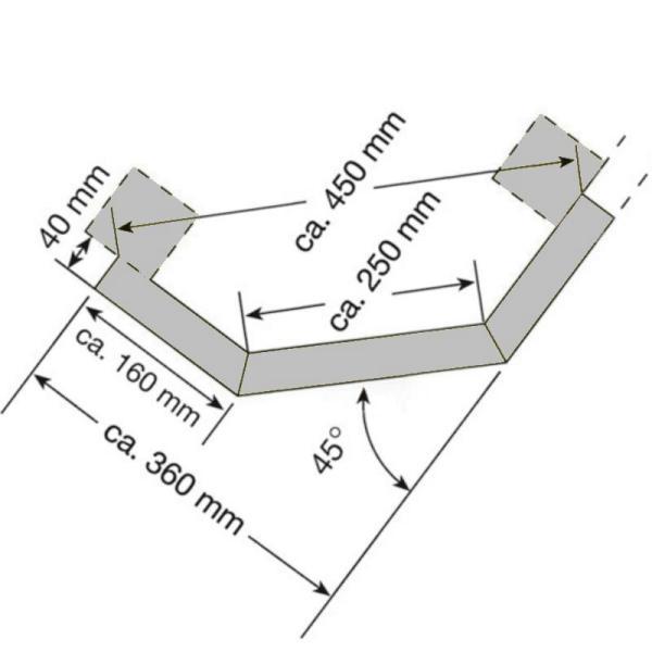 Abmaße Eckschutz Leitplanken Bausatz