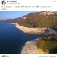 Le lac de Vouglans au plus bas.