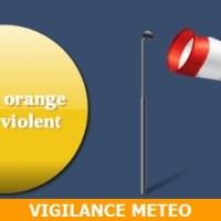 Alerte orange au vent violent en Rhône Alpes - Auvergne dès 22 h.