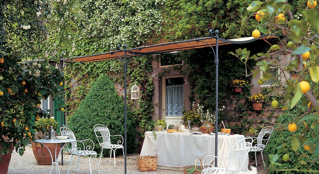 Salon De Jardin Pergola Gazebo Serre Roulotte Ou Tonnelle