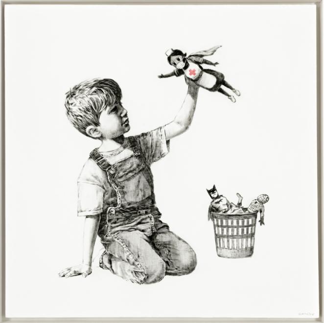 Un Banksy vendu à un prix record, au profit du service de santé britannique