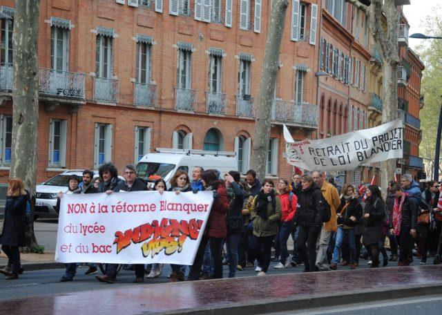 Les enseignants ont battu pavé contre la Loi Blanquer CREDIT/ Tristan Failler
