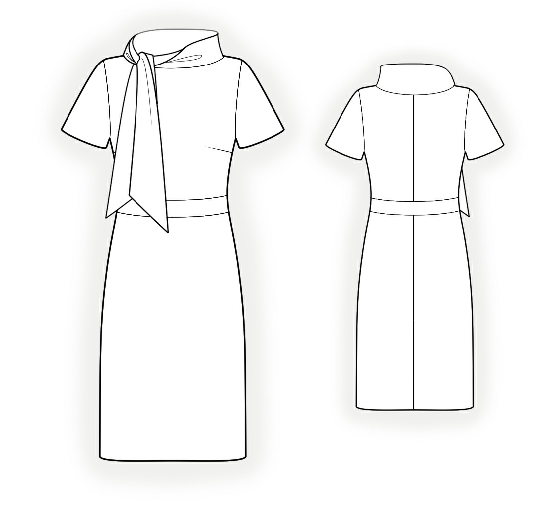Dress With Tie Collar