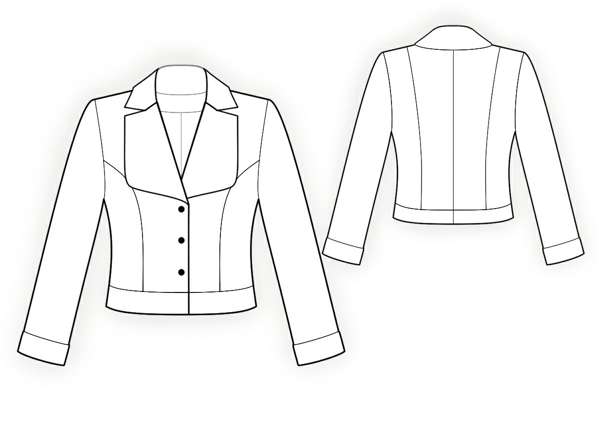 Jacket With Shaped Collar