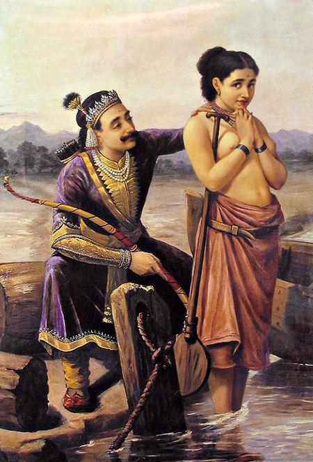 450px-Ravi_Varma-Shantanu_and_Satyavati