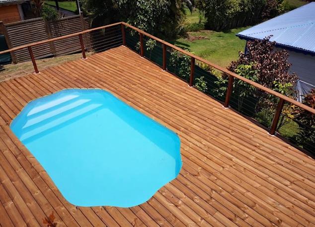 piscine bois luxe avec escalier lucci 4 15 x 2 65 x 131cm