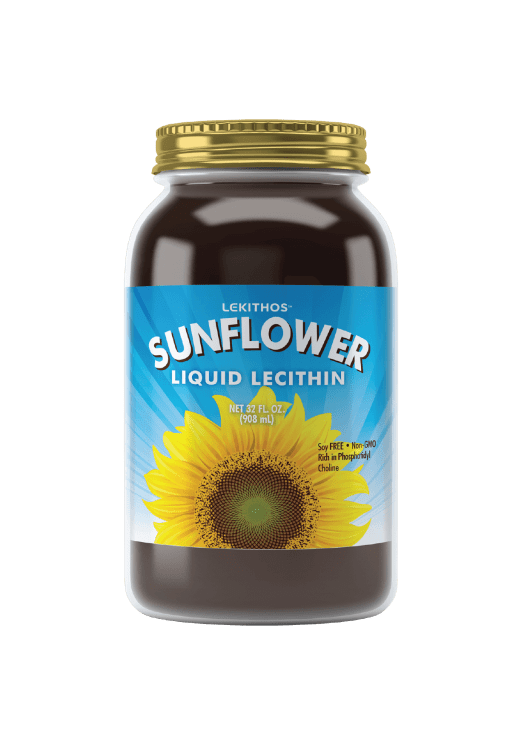 Lekithos Standard Sunflower Lecithin Liquid - 32oz - Soy Free, Non-GMO, Rich in Choline