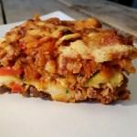 Lasagne met courgette in plaats van lasagnebladen