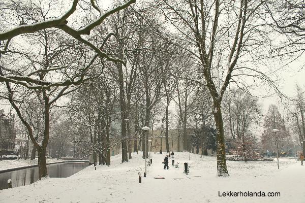 Utrecht nevado una ciudad de postal